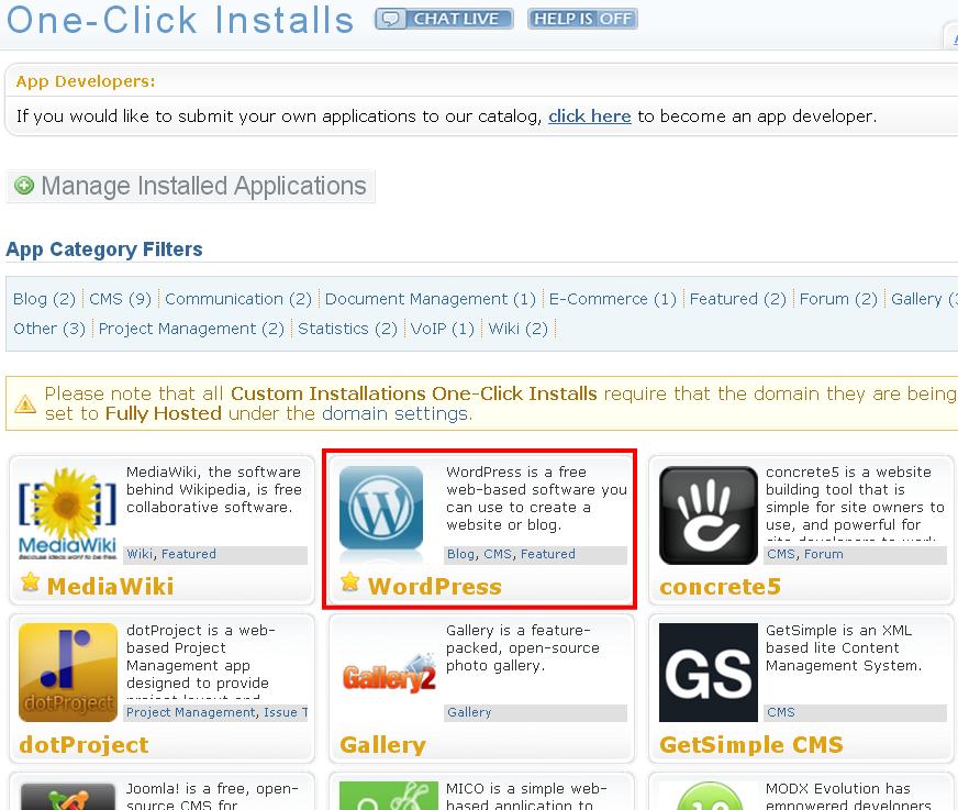 One-Click-Installs