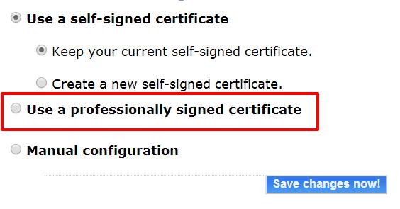 certificate-setting